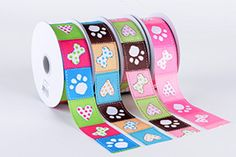 grosgrain ribbon paw design