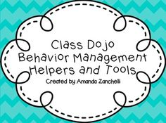 Class Dojo: Behavior Management Helpers and Tools
