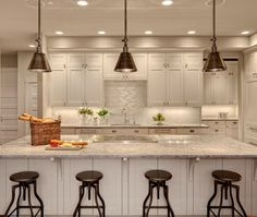 Contemporary Island Style Grey kitchen, white cabinets, Carrie King, Shuffle Interiors, Seattle