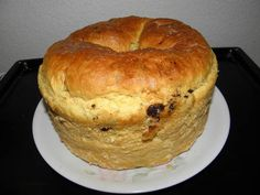 Panettone Ring Cake, Hungarian Recipes, Bagel, Scones, Baked Goods, Muffin, Easter, Bread, Sweets