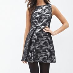 FINAL REDUCTION Abstract metallic a-line dress NWT. Perfect condition it just didn't fit me Forever 21 Dresses
