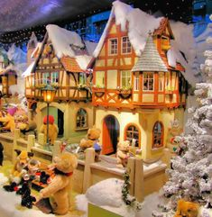 Christmas store window in Munich.  These department store displays are incredible, and the animals all move.