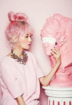 kawaii pink hair