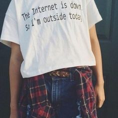 Letter Print The Internet Is Down Funny Cute T-shirt
