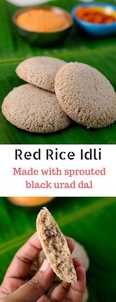 Recipe for red rice idli made with unpolished red rice and whole grain black urad dal thats been sprouted. Recipe with step by step pictures. Indian Beef Recipes, Healthy Indian Recipes, Goan Recipes, Indian Snacks, Rice Recipes, Gourmet Recipes, New Recipes, Indian Breads, Favorite Recipes