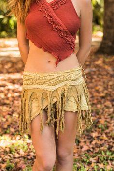 Mini Wrap Skirt, Gypsy Rag Skirt, Pixie Clothing, Elven Skirt, Forest Dweller Skirt, Hobo Skirt, Pixie Skirt, Festival Clothing, Burning Man #burningman #burningmanfashion #miniskirt #skirts #gypsyskirt #wrapskirt #festivalclothing