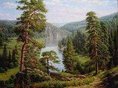 пейзажи горных рек и озер масло: 13 тыс изображений найдено в Яндекс.Картинках