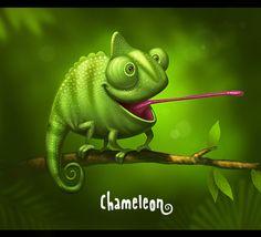 Chameleon by Sergey Kardakov, via Behance