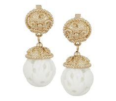 Kenneth Jay Lane - Goldplated earrings