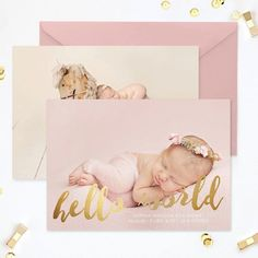 Pin for Later: 35 Beautiful Birth Announcement Cards That Are Going to Make You Want Another Baby  Hello World Card ($8)