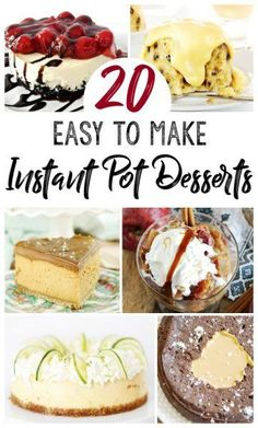 are the creatively delicious recipes you NEED to make with your Instant Pot! We compiled a list of our top 20 easy to make Instant Pot Desserts recipes. Best Instant Pot Recipe, Instant Recipes, Instant Pot Dinner Recipes, Pressure Cooker Desserts, Slow Cooker Recipes, Cooking Recipes, Pressure Cooking, Crockpot Meals, Cupcakes