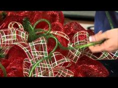 Deco mesh wreath video by Craig Bachman Imports, shows how to add ribbon mesh too.  So fun and able to be personalized so many ways!  Vintage 8 Decor