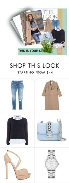 """""""this is your life"""" by emira-besirovic ❤ liked on Polyvore featuring Frame Denim, Monki, Dorothy Perkins, Valentino, Christian Louboutin, Marc by Marc Jacobs, women's clothing, women, female and woman"""