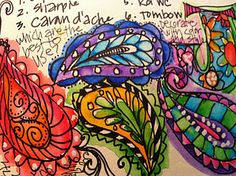 I've been wanting to incorporate paisley into a mosaic.  This is an idea how.