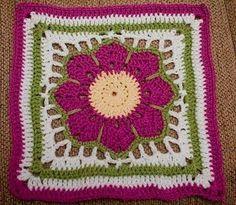 Sol Artesanías: Cuadraditos en crochet
