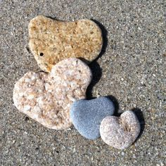 Hearts found on the beach an answer from God