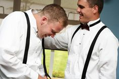 Groomsmen Getting Ready - 30 Must-Take Wedding Photos - Southernliving. Nerves? You'd never guess it with this crew. Snag a few shots of the groom and his guys fixing ties and prepping hair before the ceremony.