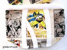 Wolverine Superhero Clutch Bag  Cosmetic Bag  Purse  by Grundee, $20.00