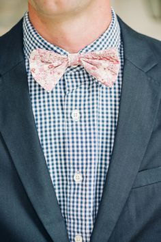 gingham + floral | Justin & Mary #wedding