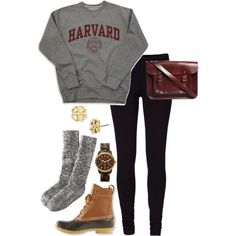 Midterms outfit for the lazy(replace Harvard sweat with Carolina and we're good to go)