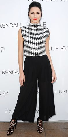 Kendall Jenner is a Sass & Bide top and Kendall + Kylie trousers