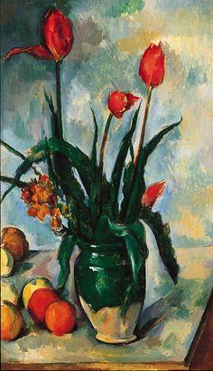 Paul Cezanne-Tulips in a Vase