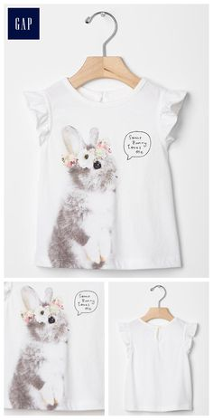 Bunny crown flutter tee
