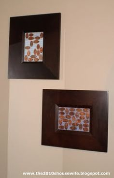 "Way to display ""smashed pennies"". WE ALL HAVE SOME BUT WHAT DO YOU DO WITH THEM...GREAT IDEA"