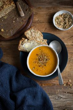 Cheddar, apple & walnut loaf and a carrot soup with coriander & cumin recipe #baking #bread
