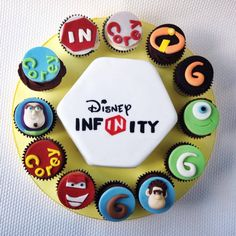 Disney infinity cake cupcakes by www.candyscupcakes.co.uk