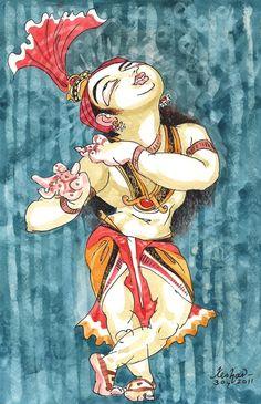 Krishna - New forever series. Watercolour.