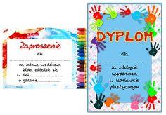 zabawy dla dzieci - dyplom, zaproszenie