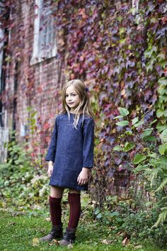 denim dress and boots // babiekins