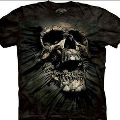 345325d4d9 Camiseta 3D Caveira The Mountain importado dos EUA produto original 100 %  algodão disponível no Brasil
