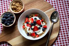 Homemade Granola with Lavender Honey and Fresh Berries