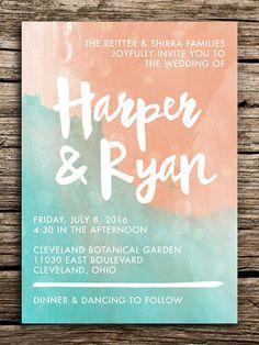Mint Green Wedding Invitations Custom Wedding Invitations
