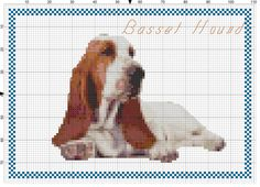 Basset Hound Cross stitch pattern instant by AmericanPooch on Etsy