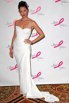 Pin for Later: See the Stars Fighting For a Breast Cancer Cure  Ashley Judd wore a sleek white dress for the Very Hot Pink Party in April 2006 in NYC.