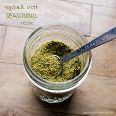 vegetable broth seasoning recipe / where the green things grow