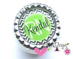 Personalized Bottle Cap Stethoscope ID Tag 6 by PLHDesigns