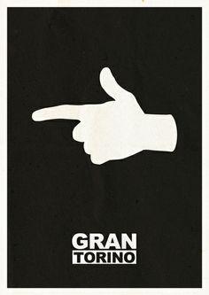 Minimalist Gran Torino Poster Art Print by Lechaftois Boris (LBö) Minimal Movie Posters, Film Posters, Gran Torino Film, Art Of Noise, Alternative Movie Posters, Book Tv, Clint Eastwood, Minimalist Poster, Vintage Movies