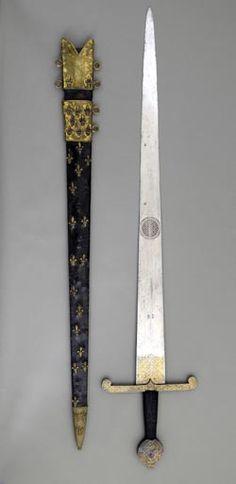 Sword of a Constable of France.  ca. 1475-1500. Long. Sword 1.2 m.; Clear. 25 cm in the guard. Paris, Musée de l'Armée, Inv. No J 26 (C) Paris -. Musée de l'Armée, Dist RMN-Grand Palais / Musée de l'Armée image.