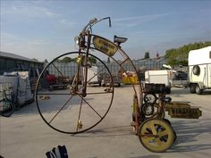 Cool steampunk bicycle
