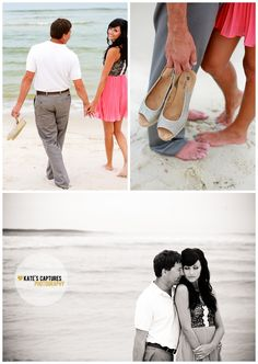 Ft. Morgan // Beach Engagement Session // Kate's Captures Photography