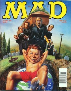 MAD The Rock Connery Eraser Schwarzenegger 11 1996 Vintage Comics, Vintage Books, Mad Magazine, Magazine Covers, Comic Book Covers, Comic Books, Alfred E Neuman, Culture Pop, Mad World