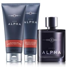 AVON ALPHA TRIO: Lead with confidence with the Avon Alpha Trio! A $32 value, this collection includes Eau de Toilette Spray, Hair & Body Wash and After Shave Conditioner. You can find this & more in #Avon #fragrance sets at www.youravon.com/jantunes. #AvonMen
