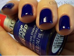 "Revlon ""Royal."" A lovely bright blue that chips too easily."