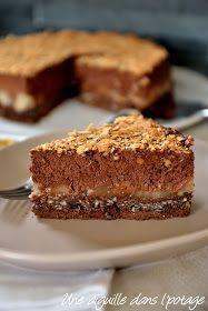 Gâteau crousti-fondant chocolat-poire