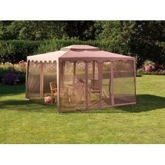 Living Accents Gazebo with Mosquito Netting, Taupe 10' X 12' X 9-3/4' --- http://bizz.mx/2oh