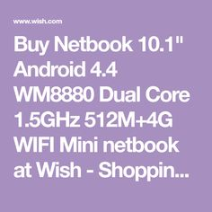 Buy Netbook Android Dual Core WIFI Mini netbook at Wish - Shopping Made Fun Android 4, Wish Shopping, Sd Card, Wifi, Computers, Stuff To Buy, Rome
